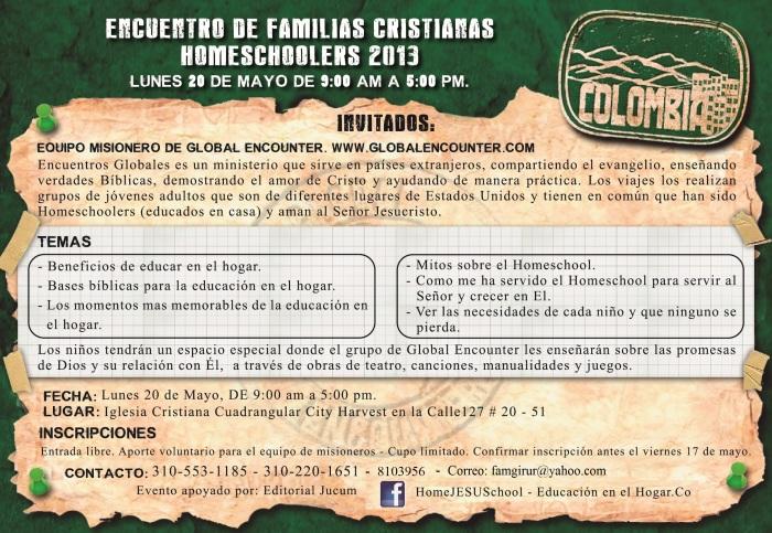 ENCUENTRO DE FAMILIAS CRISTIANAS HOMESCHOOLERS. -2013