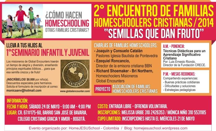 Flyer II Encuentro Familias HS - 2014 II